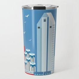 San Diego, California - Skyline Illustration by Loose Petals Travel Mug