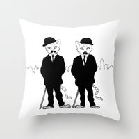 tintin Throw Pillows featuring Thomson and Thompson by Hannighan