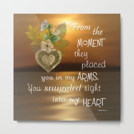 Snuggled Into My Heart Metal Print