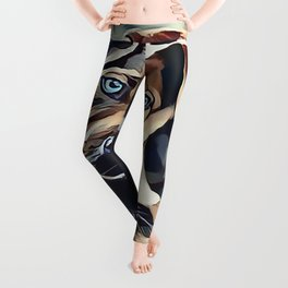 The Blue Eyed Pit bull Puppy Leggings