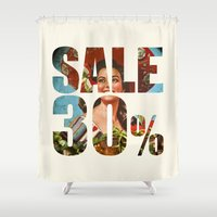 sale Shower Curtains featuring Sale by Gerko
