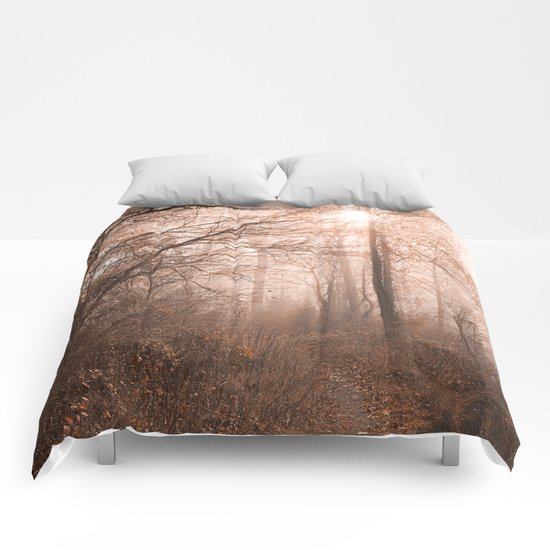 Misty Sun Kissed Trail Comforters