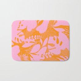 Sunny Tropical Cocktail #tropicalvibes #pattern Bath Mat