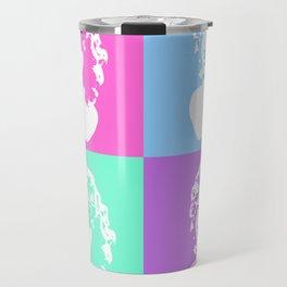 Vaporwave Aesthetic - White Travel Mug