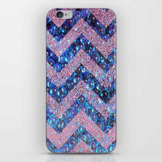 bubbly chevron iPhone Skin