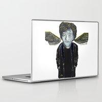 kurt vonnegut Laptop & iPad Skins featuring Kurt Vonnegut Jr Oil Painting by Tony King  by Tony King - Beautifully Mad
