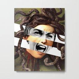 Caravaggio's Medusa & Psycho Metal Print