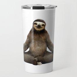 Sloth Yoga Art Print Travel Mug