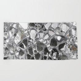 Silver Mirrored Mosaic Beach Towel