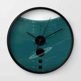 The Worlds (Aqua) Wall Clock