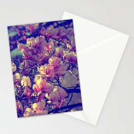Magnolia flowers design in the garden of spring Stationery Cards