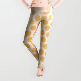 Honey Gold Ombre Dots - White Leggings