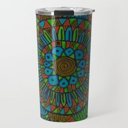 Glow Doodle Mandala Travel Mug
