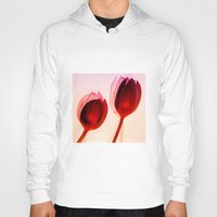 tulips Hoodies featuring Tulips by Julia Tomova
