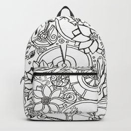 Koi Pond Coloring Page Backpack