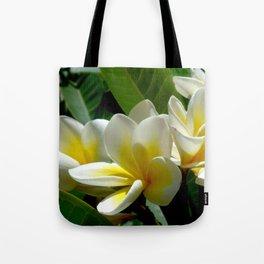 White summer Flowers by Lika Ramati Tote Bag
