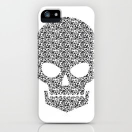 Skull + flowers iPhone Case