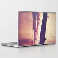 religion Laptop & iPad Skins featuring Skate is my religion by Rafael&Arty