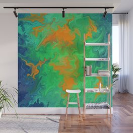 Marble No6, Water Flowers Wall Mural