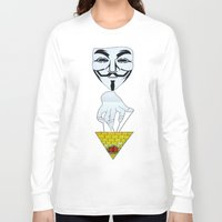 anonymous Long Sleeve T-shirts featuring Anonymous by Edgar Huaracha