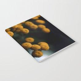 mustard yellow flowers Notebook