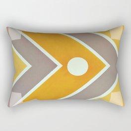 Fish - geometric square Rectangular Pillow