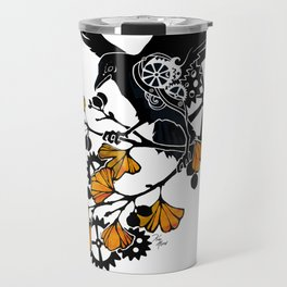 Raven and Ginkgo - Autumn Cycle Travel Mug
