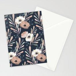 Anemones & Olives blue Stationery Cards