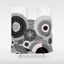 Wheels Abstract Art Shower Curtain