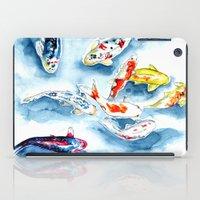 koi iPad Cases featuring Koi  by Bridget Davidson