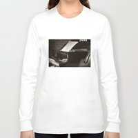 music notes Long Sleeve T-shirts featuring Grand Piano and Music Notes by cinema4design