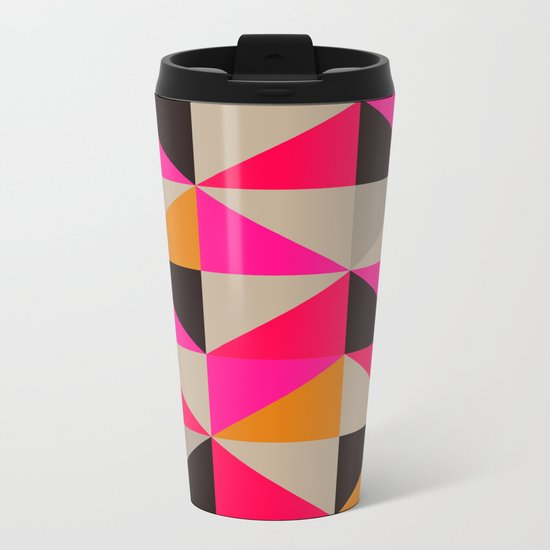 colour + pattern 5 Metal Travel Mug