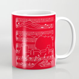 Moonlight Sonata Red Coffee Mug