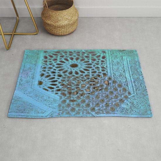 Moroccan Blue Stained Glass effect by intensebydesign