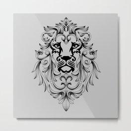 Heraldic Lion Head Metal Print