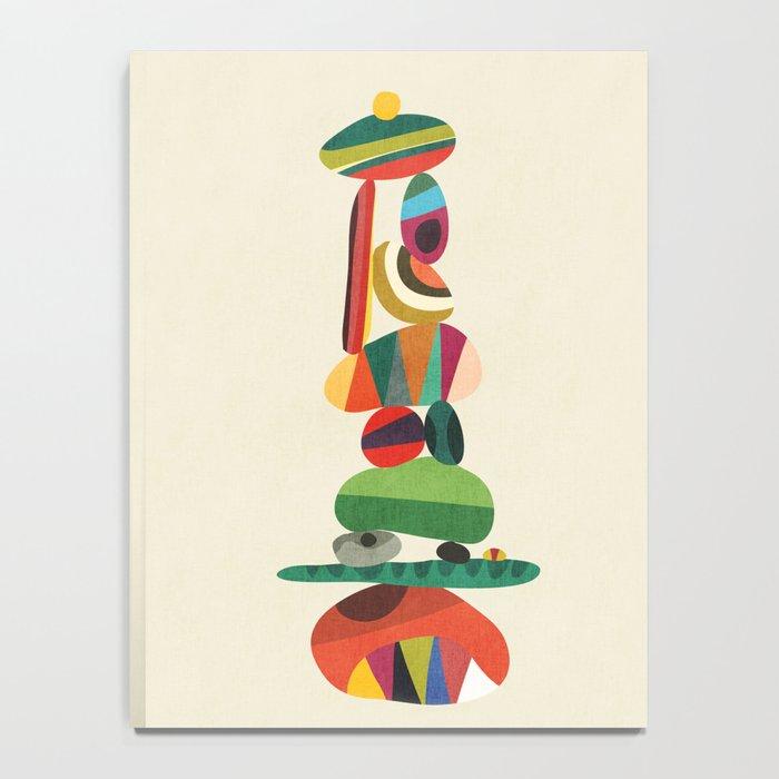 Totem - balanced pebbles Notebook