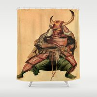 samurai Shower Curtains featuring Samurai by Graziano Ventroni