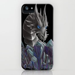 Ice Dragon Hoard Inspection iPhone Case