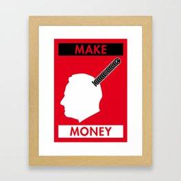 Illustrated new year wishes: #8 MAKE MONEY Framed Art Print