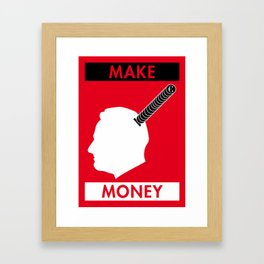 Illustrated new year wishes: #8 MAKE MONEY Framed Art Print