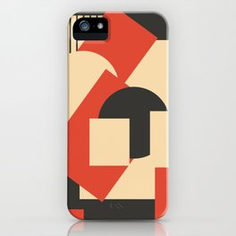 Geometrical abstract art deco mash-up iPhone Case