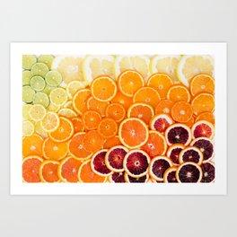Ombre Citrus Art Print