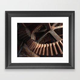 Grist Mill Gears Framed Art Print