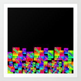 Rainbow Patterns Art Print