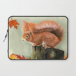 Red Squirrel In Autumn Laptop Sleeve