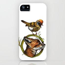 Little Fox & Firecrest iPhone Case