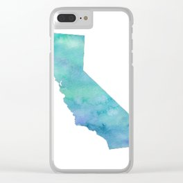 Watercolor California Clear iPhone Case