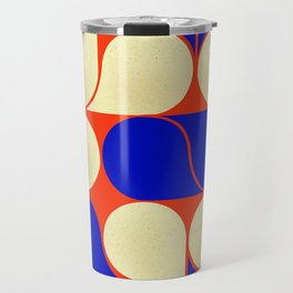 Mid-century geometric shapes-no10 Travel Mug