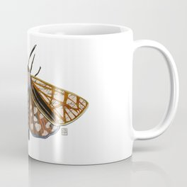 Moth - Mixed Media Digital Collage Coffee Mug