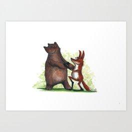 Bear & Fox Art Print